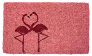 Flamingos Cocoa Door Mats