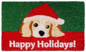 Dog Lovers Holiday Cocoa Door Mats