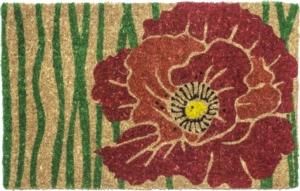 Red Bloom Handwoven Coconut Fiber Door Mats