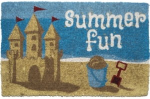 Summer Fun Handwoven Coconut Fiber Door Mats