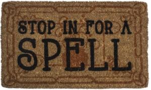 Stop in for a Spell Handwoven Coconut Fiber Doormat