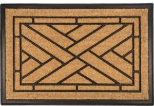 Diagonal Tiles Recycled Rubber & Coir Door Mats