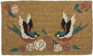 Swallows Tattoo Handwoven Coconut Fiber Door Mats