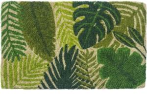 Tropical Leaves Handwoven Coconut Fiber Door Mats