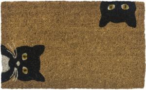 Peeping Cats Handwoven Coconut Fiber Door Mats