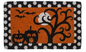 Frightful and Delightful Handwoven Coconut Fiber Door Mats