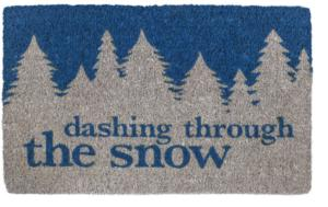 Dashing Through the Snow Handwoven Coconut Fiber Door Mats