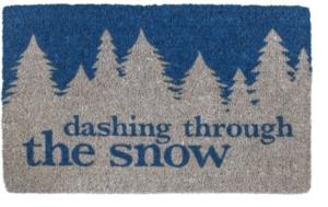 Dashing Through the Snow Handwoven Coconut Fiber Door Mats