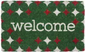 Red and Green Welcome Handwoven Coconut Fiber Door Mats