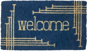 Linear Welcome Handwoven Coconut Fiber Door Mats