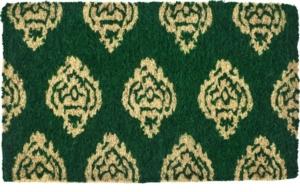 Ikat Damask Handwoven Coconut Fiber Door Mats