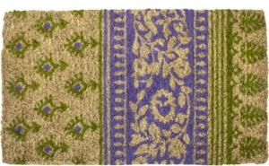 Olive and Lilac Handwoven Coconut Fiber Door Mats