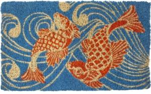 Koi Fish Handwoven Coconut Fiber Door Mats