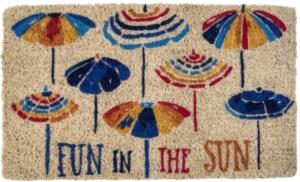 Fun in the Sun Handwoven Coconut Fiber Doormat
