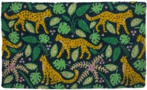 Leopards Handwoven Coconut Fiber Doormat