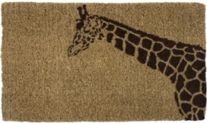 Giraffe Handwoven Coconut Fiber Doormat