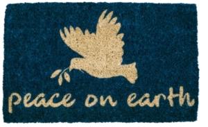 Peace on Earth Handwoven Coconut Door Mats