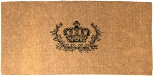 Crown and Wreath 36x72 Extra-Thick Handwoven Doormat