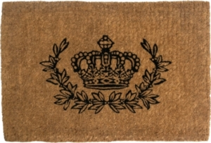 Crown and Wreath 24x36 Extra-Thick Handwoven Doormat