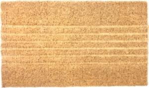 Embossed Lines Woven Coconut Fiber Doormat