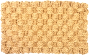 Basket Weave Extra-Thick Woven Coconut Fiber Doormat
