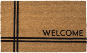 Crisscross Welcome 18x30 Coir Doormat