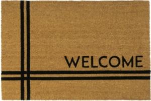 Crisscross Welcome 24x36 Coir Doormat