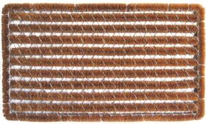 Rectangle Stripes Wire Brush Cocoa Scraper Mats