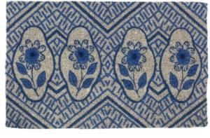 Delft Flowers Handwoven Coconut Fiber Door Mats