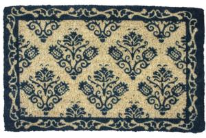 WILLIAMSBURG Tulip Damask Handwoven Coconut Fiber Door Mats