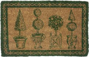 WILLIAMSBURG Topiary Handwoven Coconut Fiber Door Mats