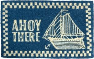 Ahoy There Handwoven Coconut Fiber Doormat