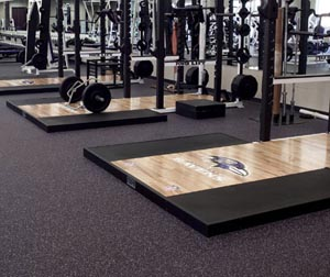 Rubber Gym Mats - Rolls & Tiles