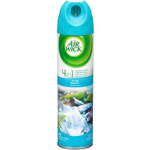 Air Wick® Aerosol Air Freshener, Fresh Waters, 8 oz Aerosol, 12/Case
