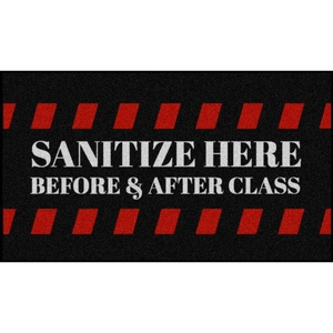 School Sanitizing Station Floor Mats