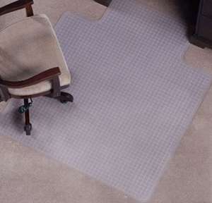 Designer Desk Chair Mats - Checkered Pattern