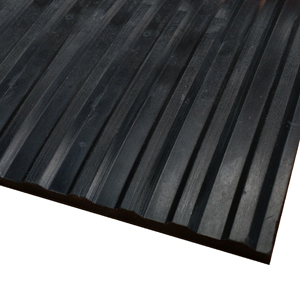 Wide-Rib Corrugated Rubber Runner Mats