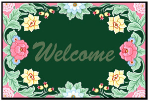 Floral Welcome Mats