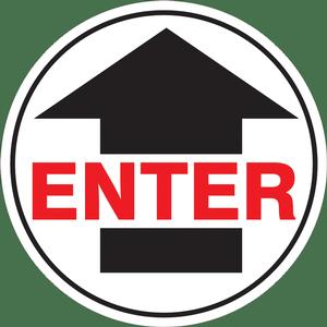 """""""Enter"""" With Arrow Floor Decals"""