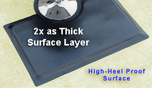 High-Heel Proof Salon Mats
