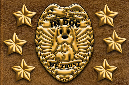 In Dog We Trust Mats - Dog Badge