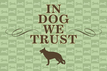 In Dog We Trust Mats - Checkerboard