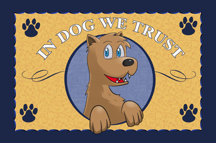 In Dog We Trust Mats - Paw Print