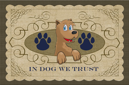 In Dog We Trust Mats - Scroll Paws