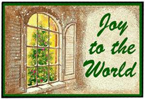 Joy to the World Christmas Mats