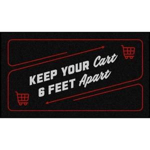 Shopping Cart Distancing Floor Mats