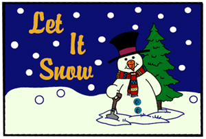Let It Snow Holiday Mats