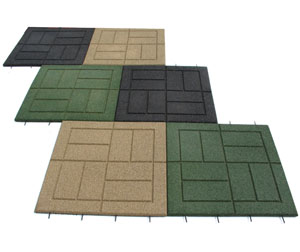 Outdoor Rubber Paver Tiles