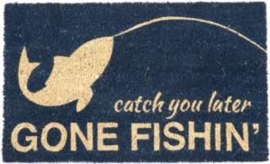 Gone Fishin Non Slip Coir Doormat