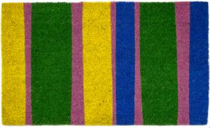 Bands of Color Non Slip Coir Doormat